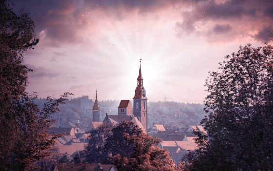 church, ultra, resolutions, widescreen, countryside, travel,