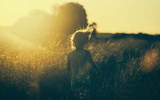 девушка, run, vintage, sun, трава