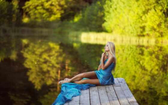 dream, девушка, summer, pier, качественные, который, красивый, платье, leg, биг