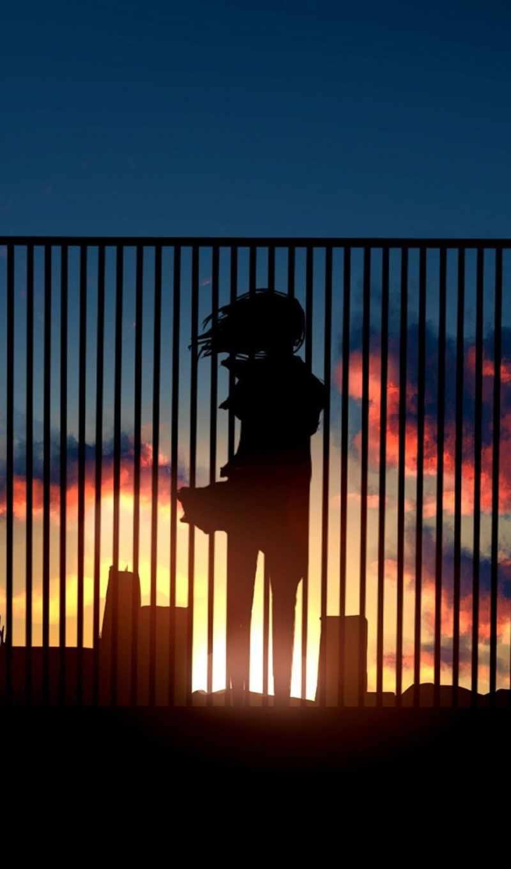 свет, девушка, забор