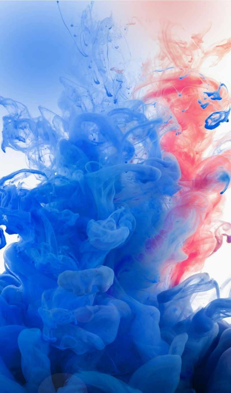 тушь, экран, голубой, дым