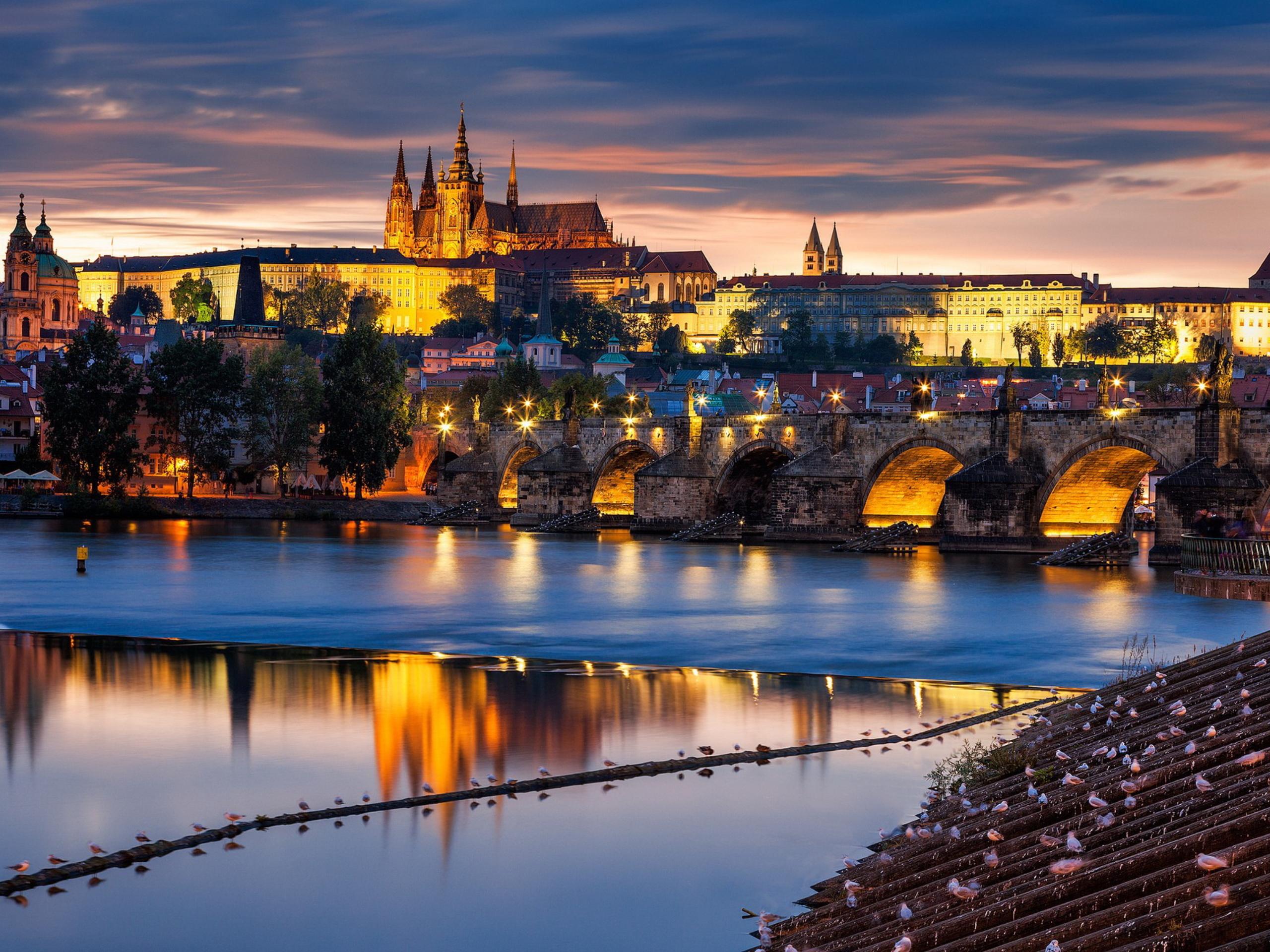 Обои чехия, praga, czech republic, панораманый, красивый. Города foto 7