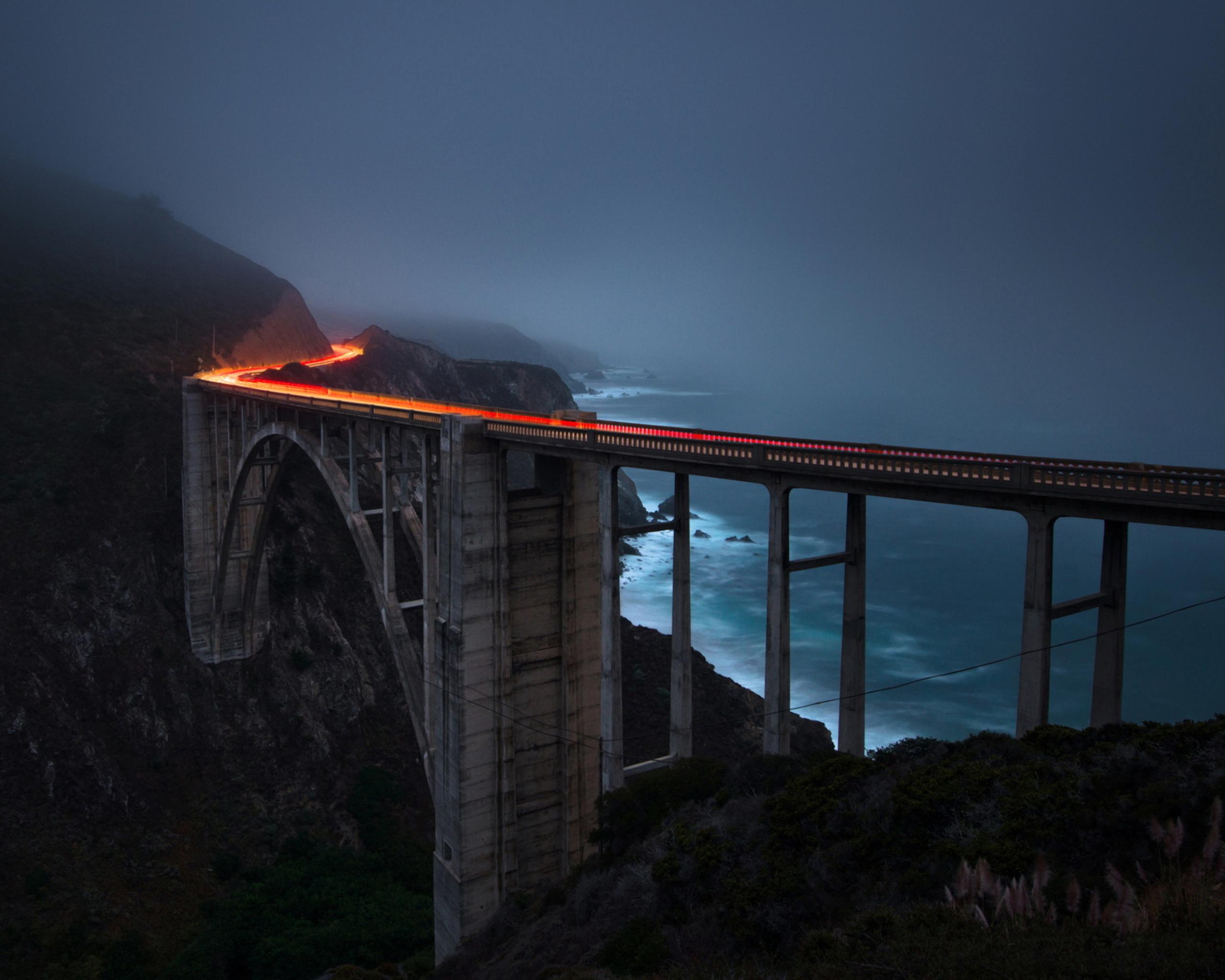 Обои железная дорога, туман, мост. Разное foto 19