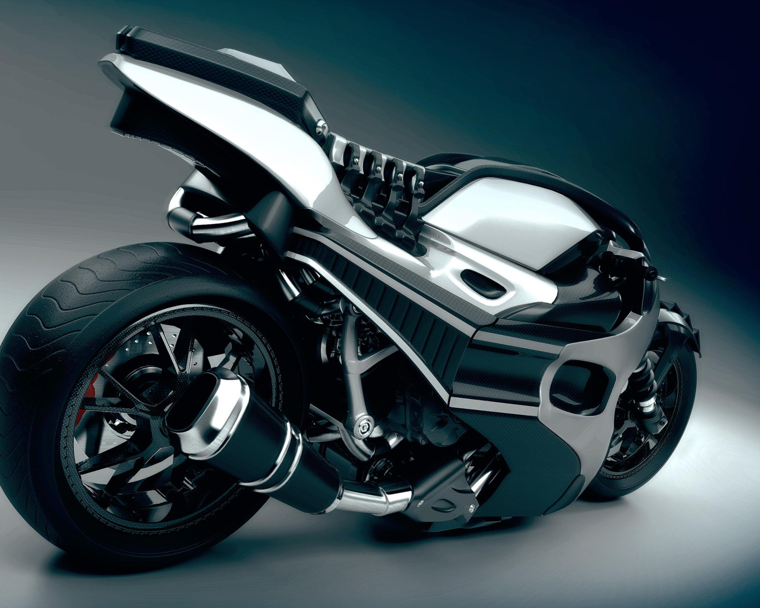 Обои Мотоцикл, просто монстр, хром. Мотоциклы foto 6