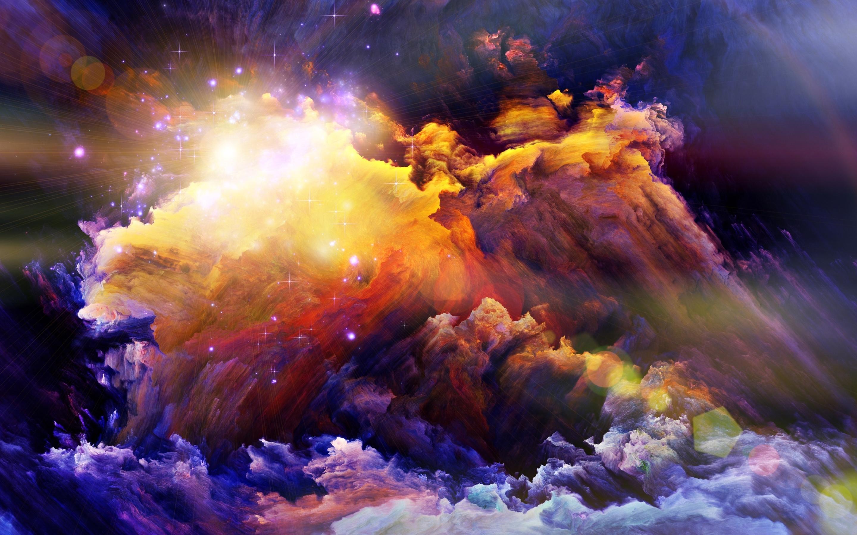 Обои свет, дым, Пятна, краски, яркость. Абстракции foto 8