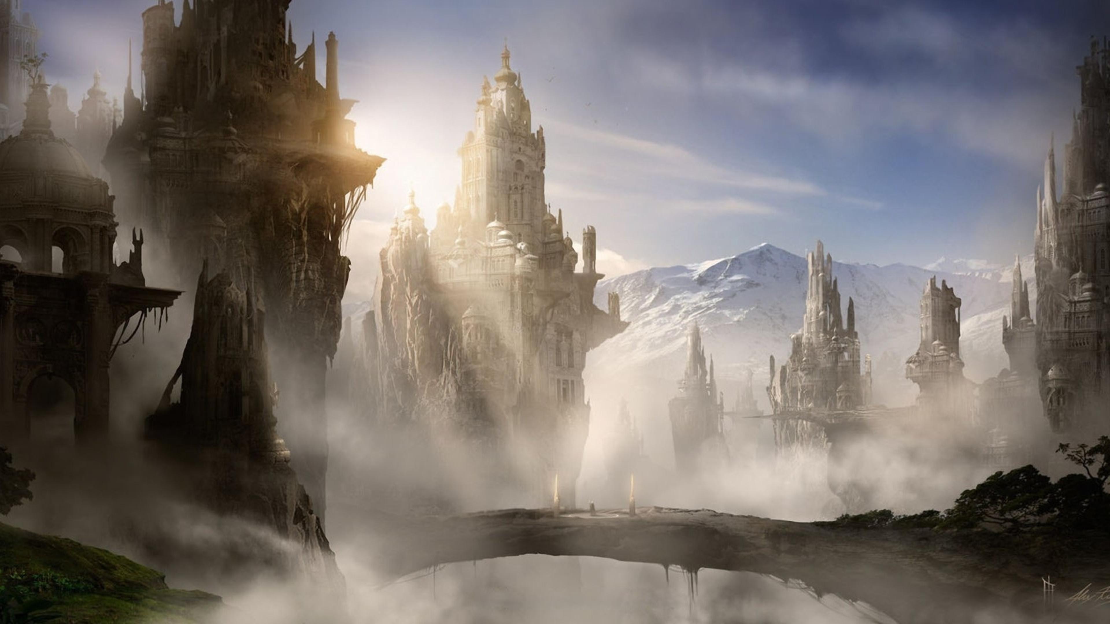 Обои замок, скалы. Разное foto 17
