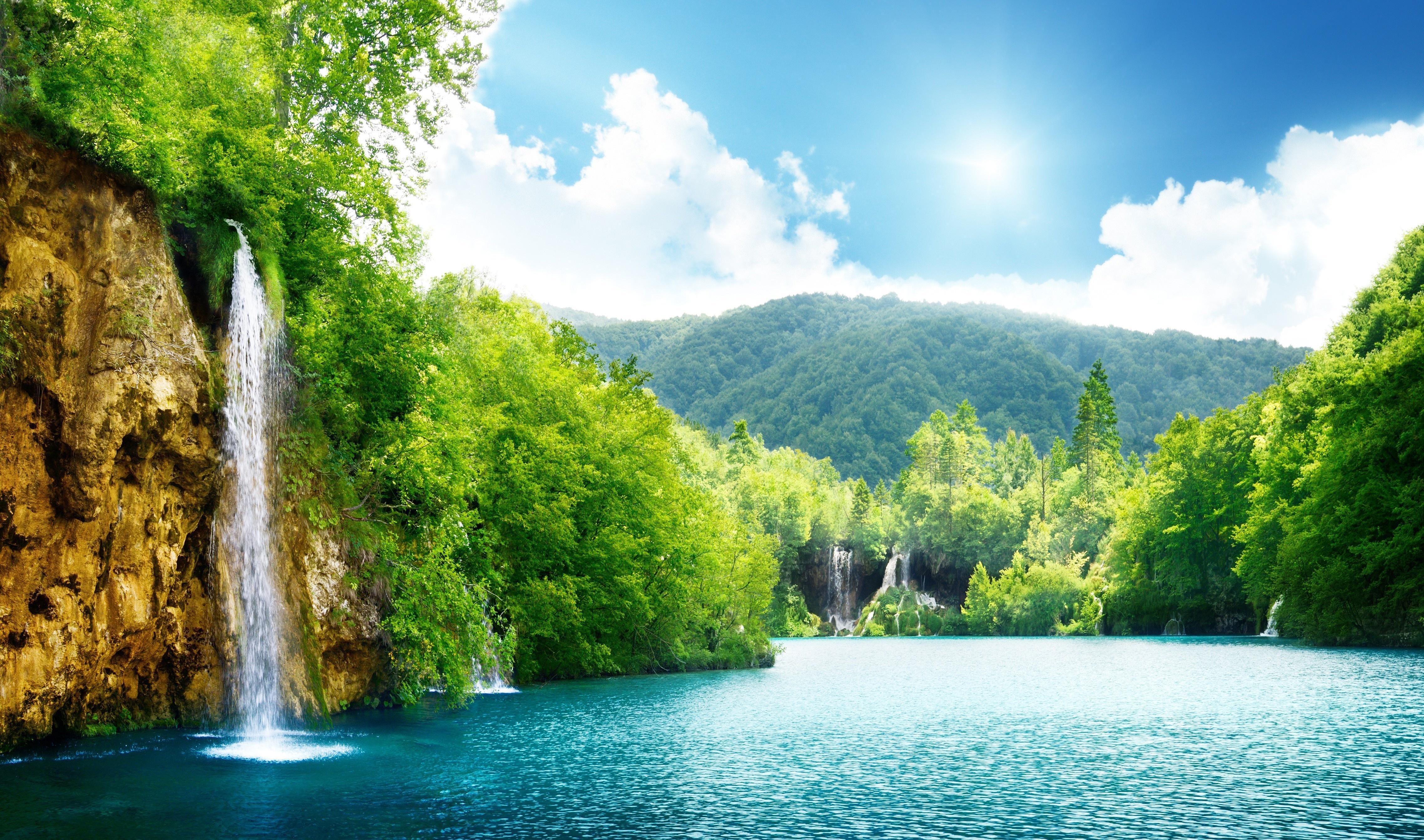 водопад горы  № 2560988 загрузить