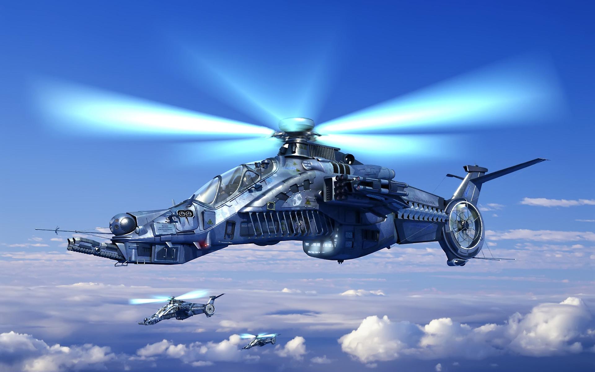 вертолет под звездным небом без смс