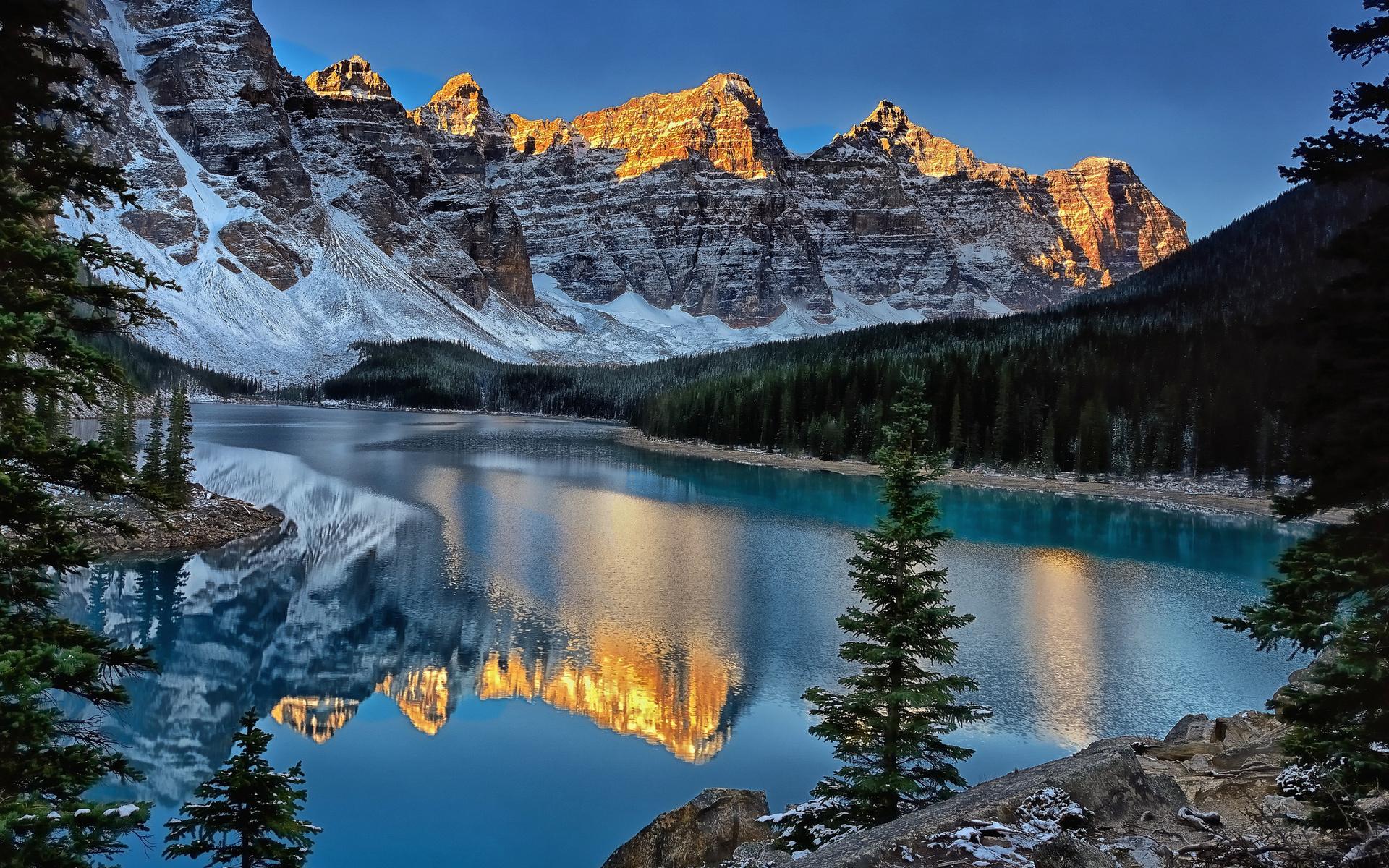 Bow Lake and Flowers, Banff National Park, Alberta, Canada  № 230850 без смс