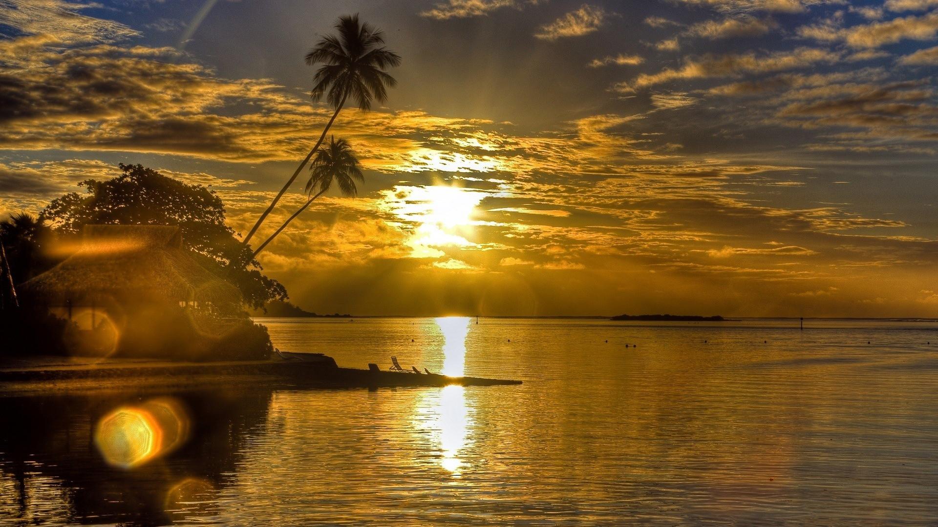 природа отражение вечер деревья корабли без смс