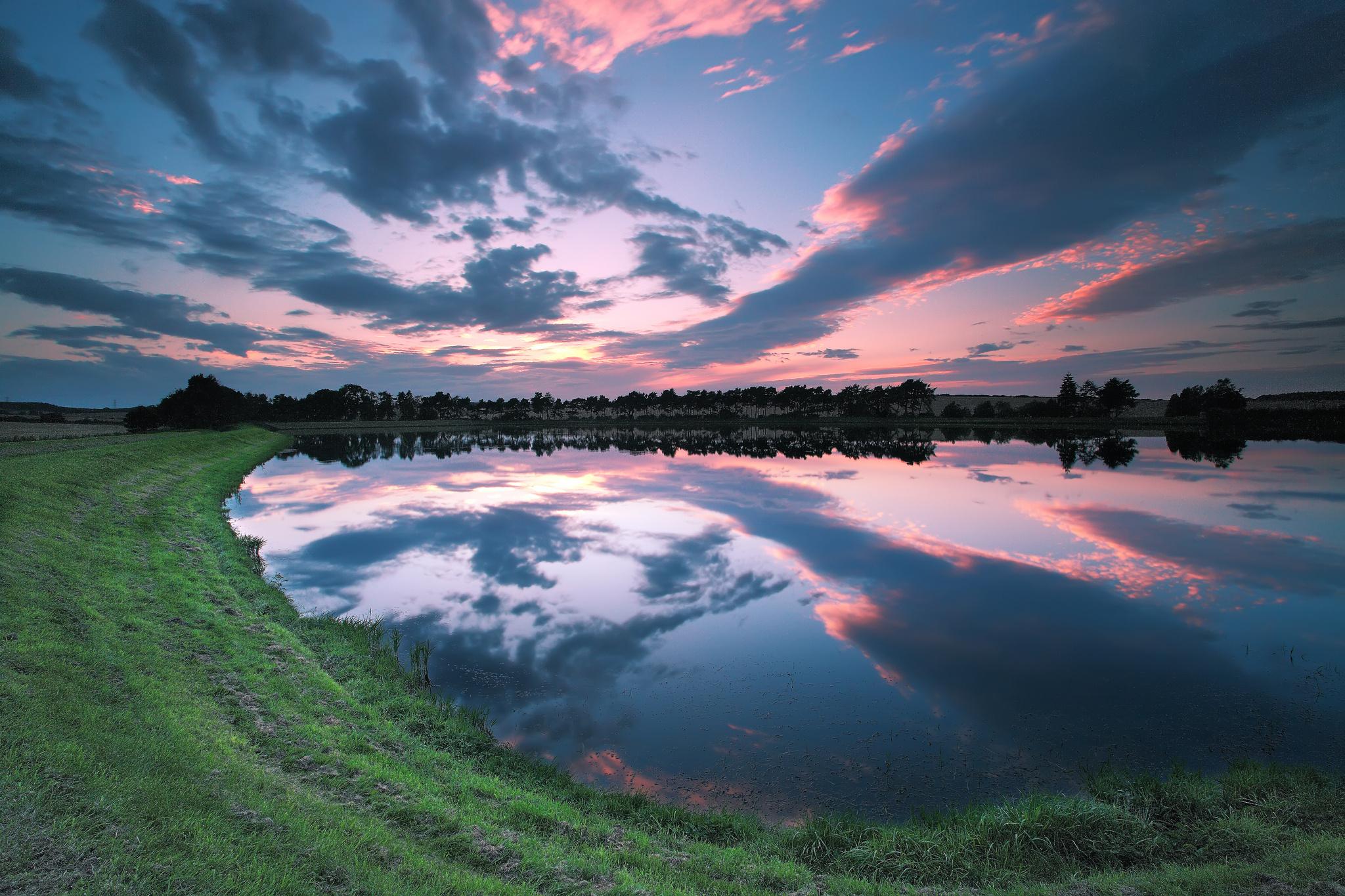природа река деревья облака небо  № 316556 бесплатно