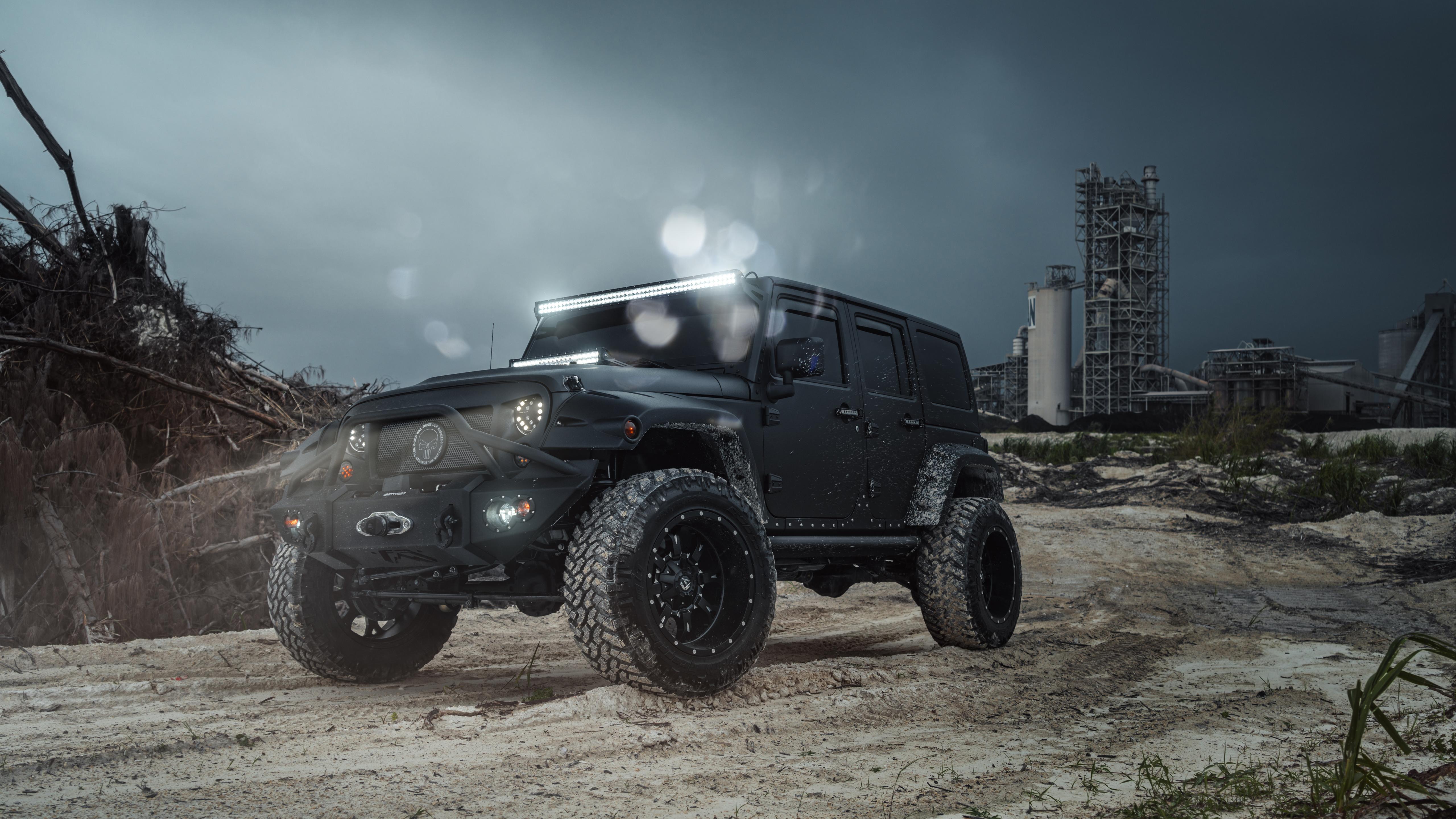 автомобиль джип черный Jeep загрузить