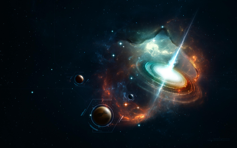 Обои Зелено-красный свет картинки на рабочий стол на тему Космос - скачать  № 1764179 бесплатно
