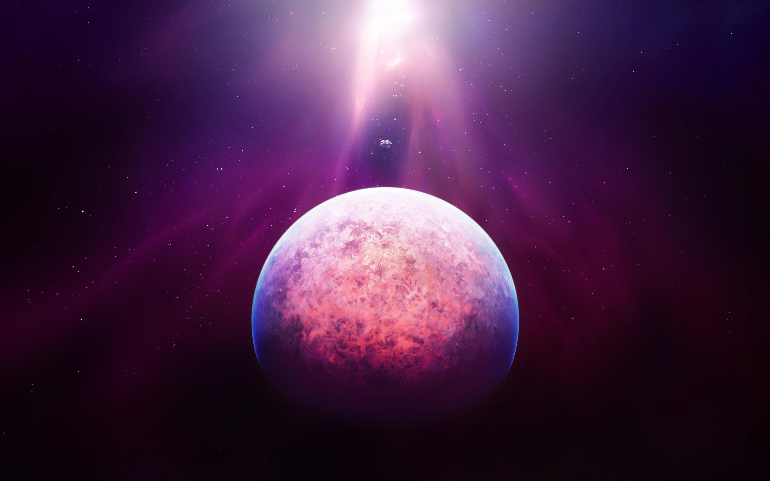 Обои Свечение за планетами картинки на рабочий стол на тему Космос - скачать  № 1772733 бесплатно