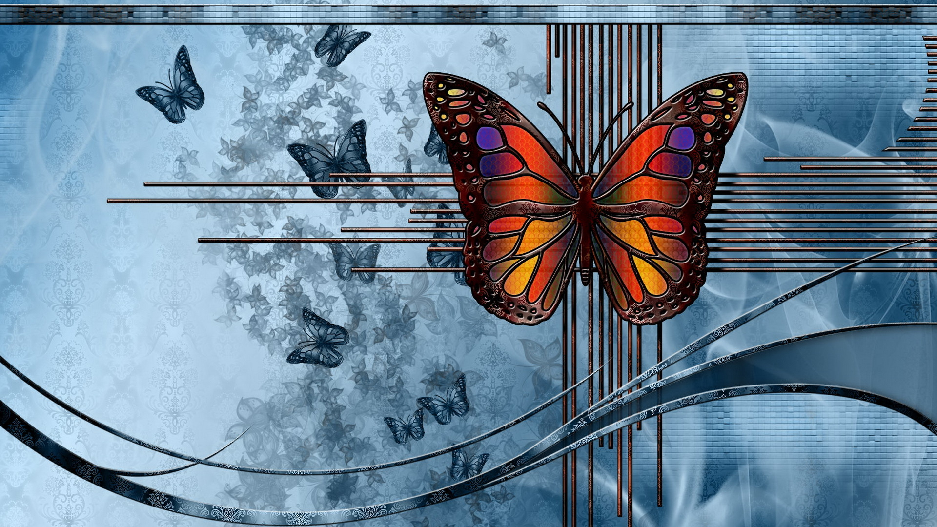 Бабочки свет графика загрузить