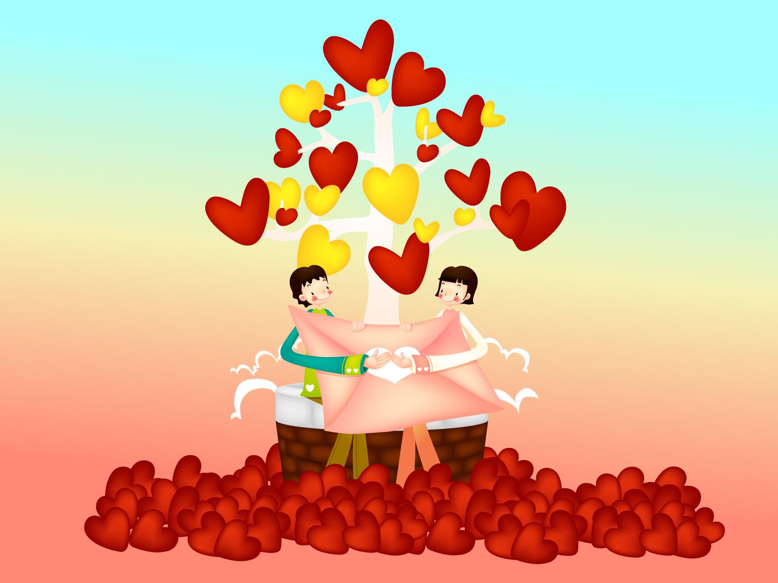 День любви рисунок, белая открытка маме
