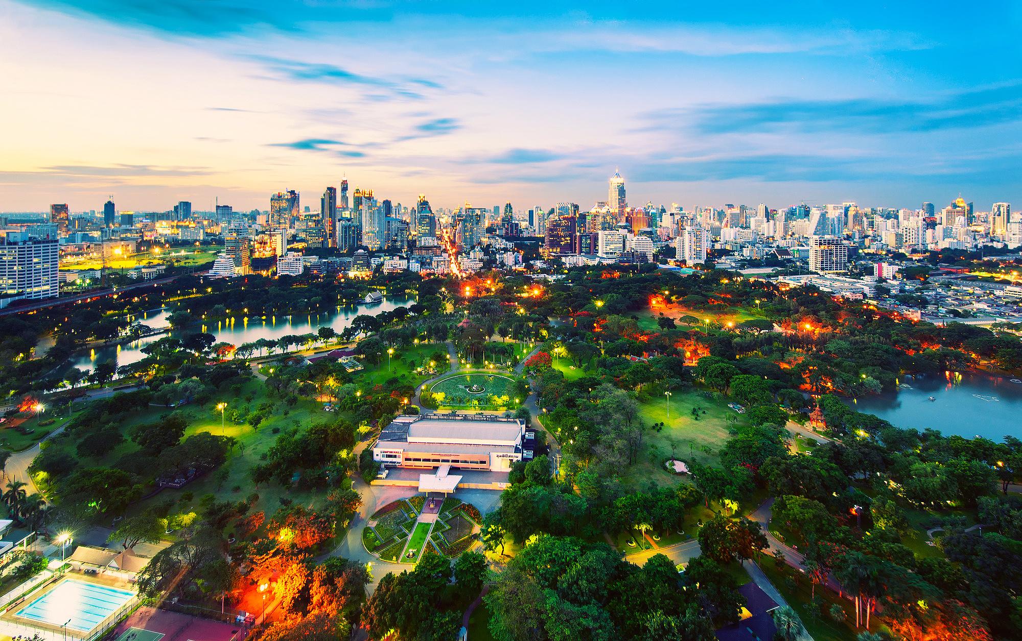 страны архитектура Бангкок Таиланд ночь  № 2195108 загрузить