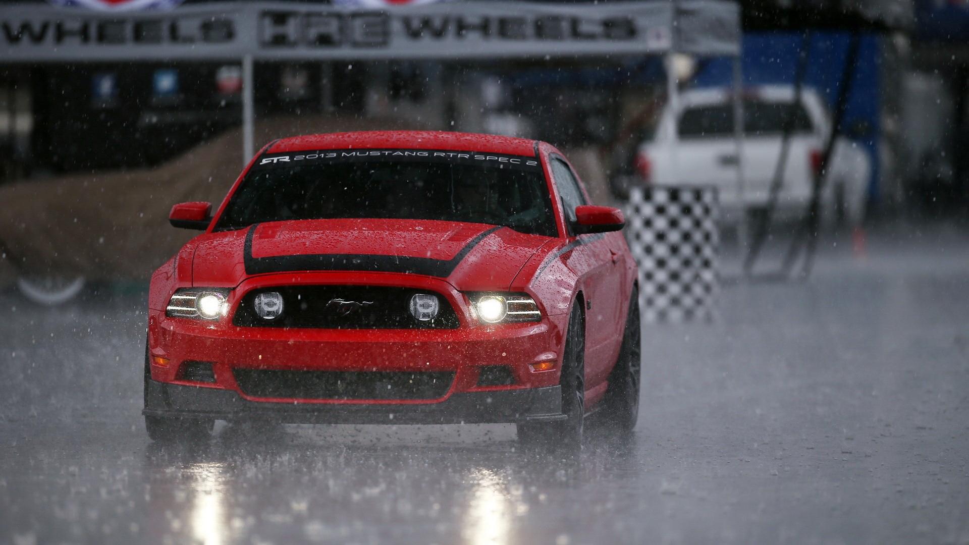 Ford Mustang гоночный красный тюнинг онлайн