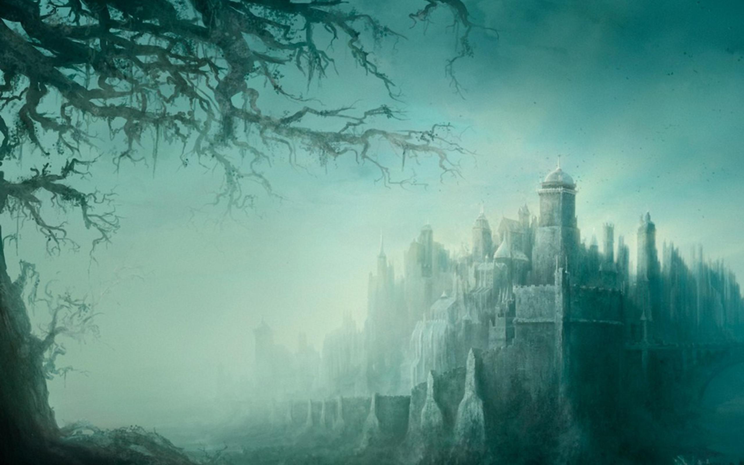картинки фэнтези туман одежде