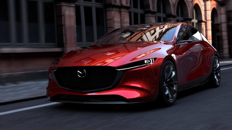 спортивный желтый автомобиль Mazda RX-Vision концепт  № 727281 без смс
