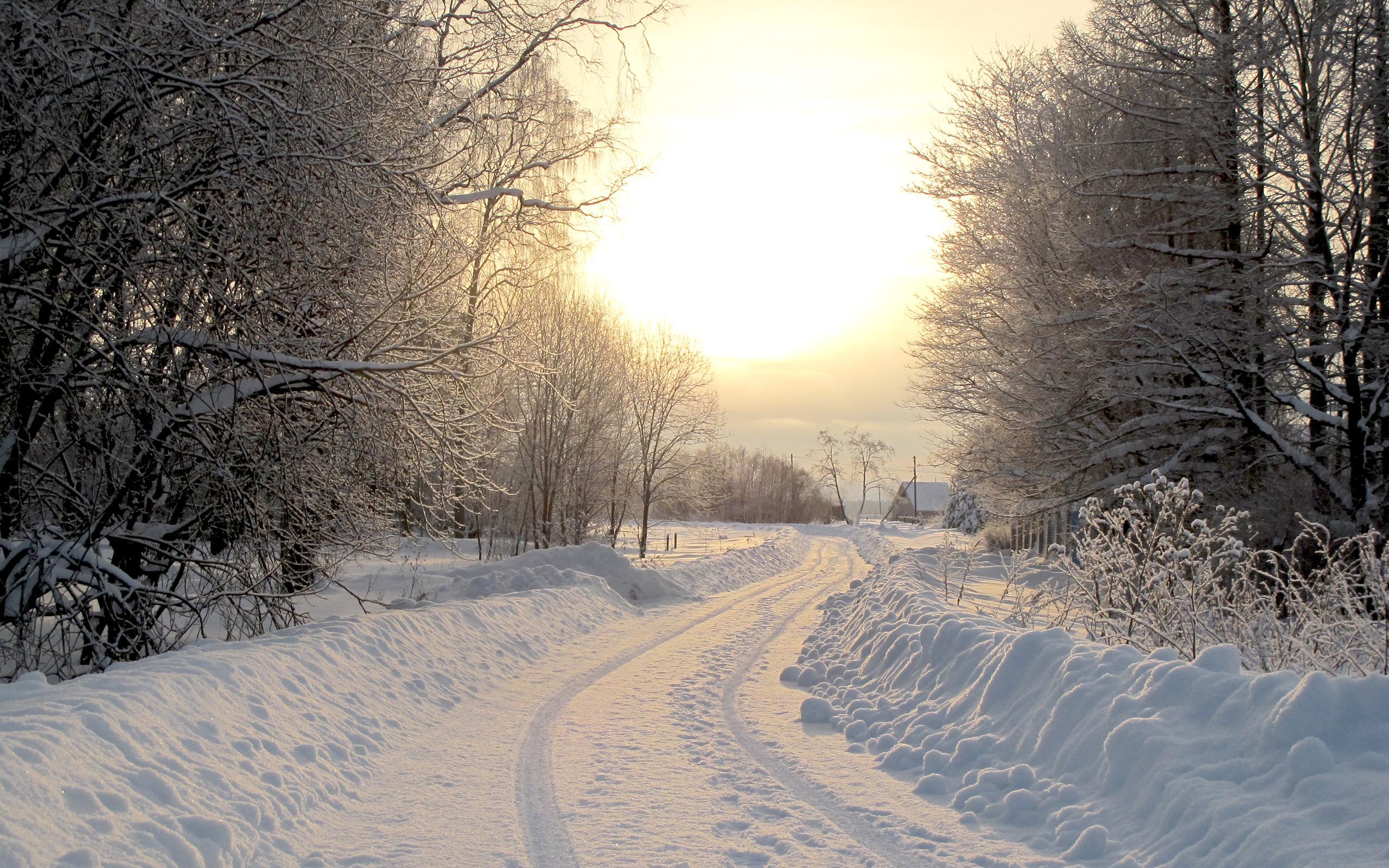 Дом зима дорога снег загрузить