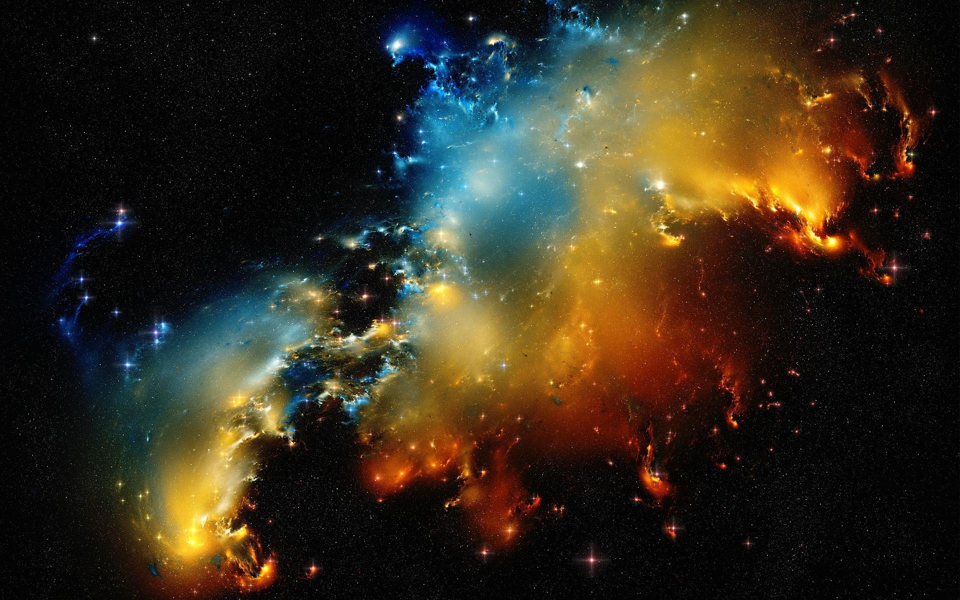 Обои Туманность со звездами картинки на рабочий стол на тему Космос - скачать скачать