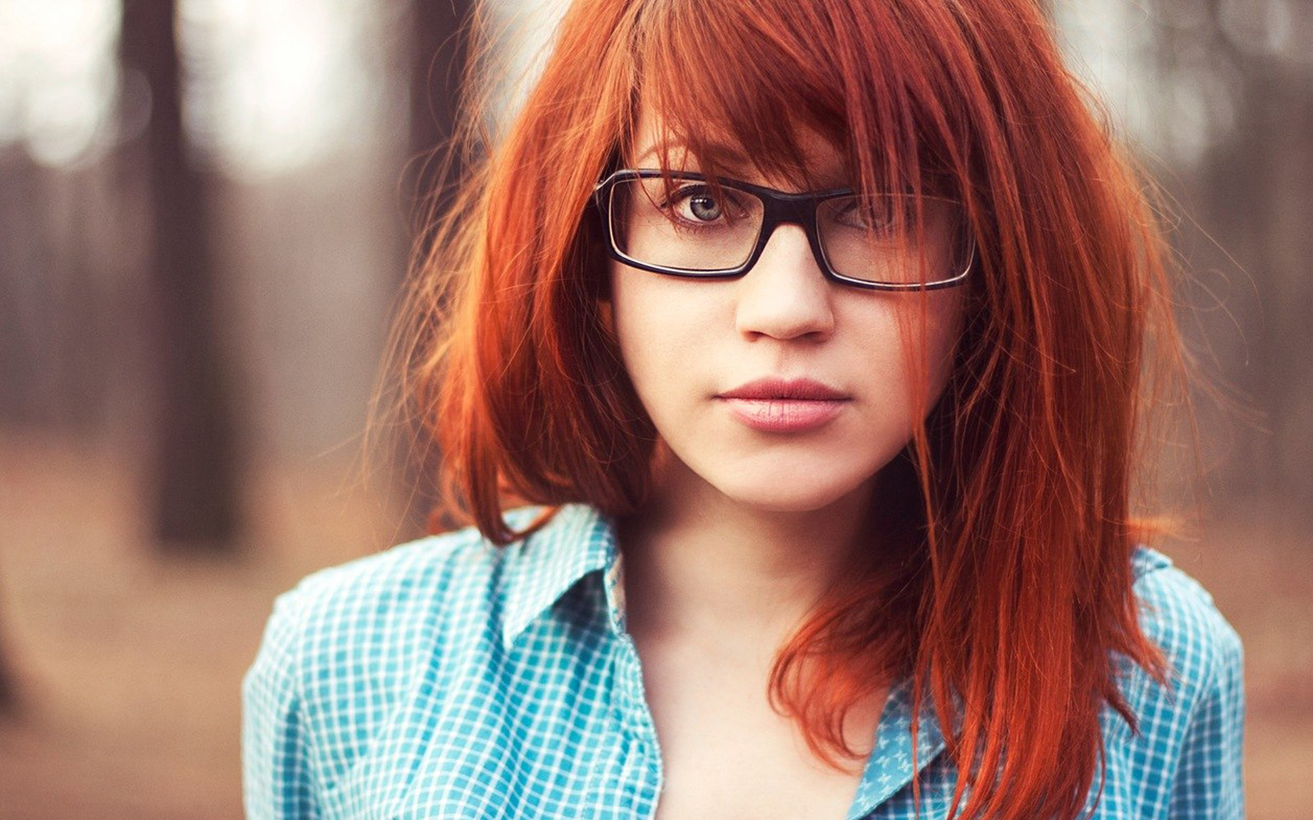 redhead lady wearing glasses is getting penetrated with passion  108208