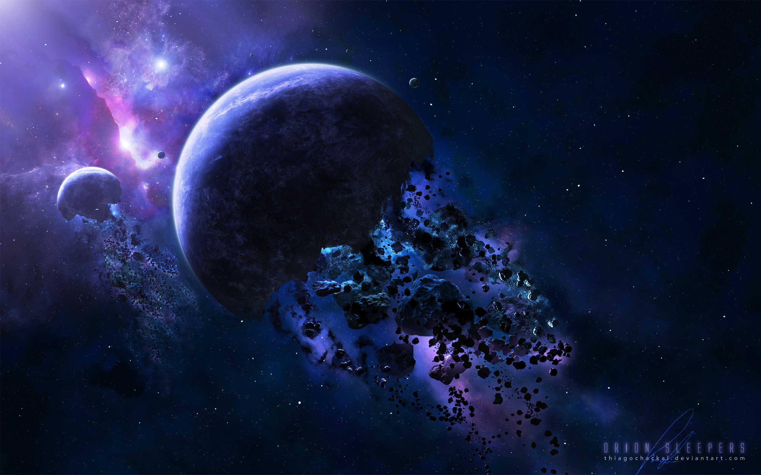 Обои Темная планета картинки на рабочий стол на тему Космос - скачать  № 1763007  скачать