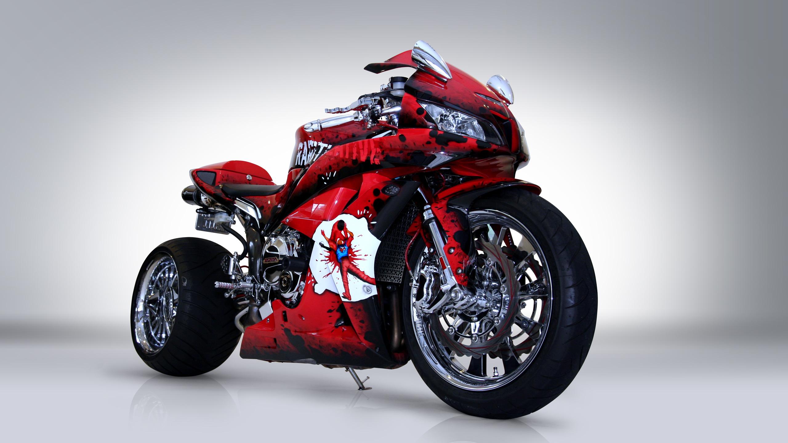 мотоцикл хонда красно-черный загрузить