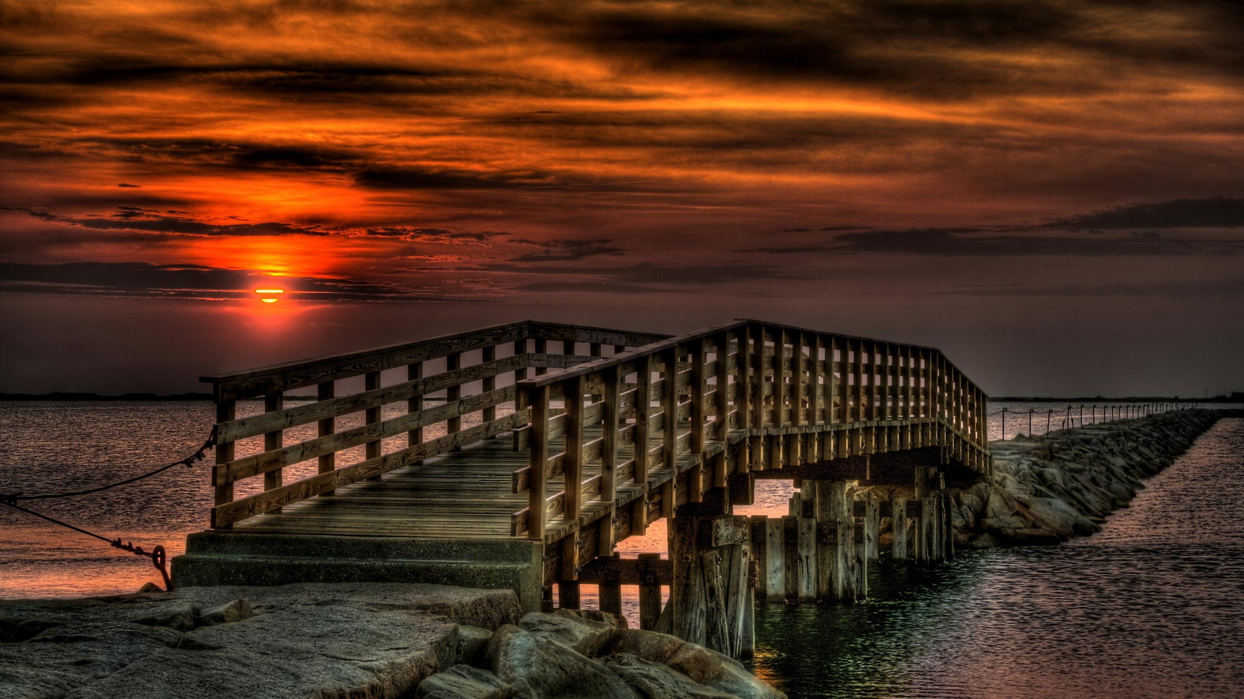 мост фонари море небо  № 3388165 без смс