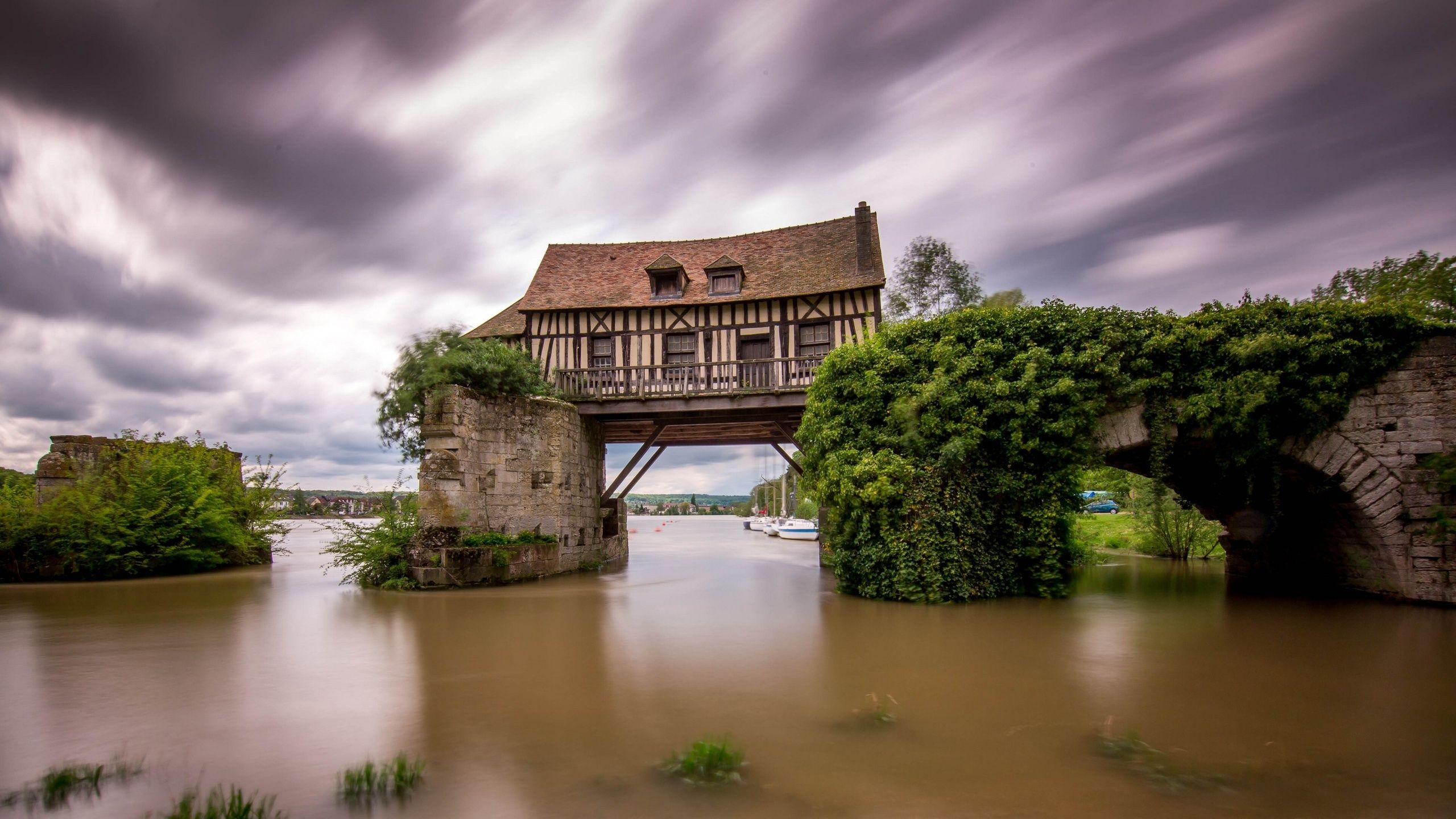 природа страны архитектура река мост Александр  № 2234728  скачать