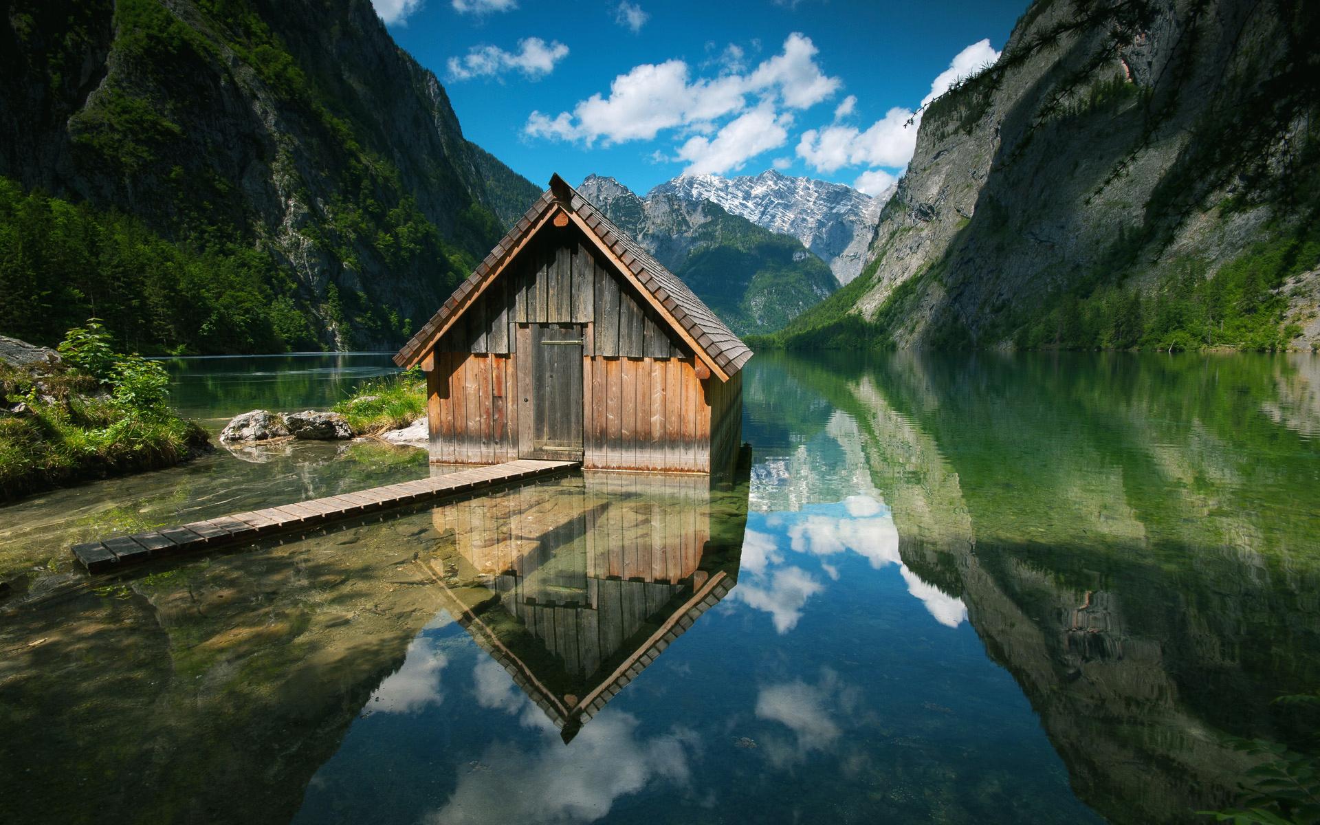 дома озеро горы скачать