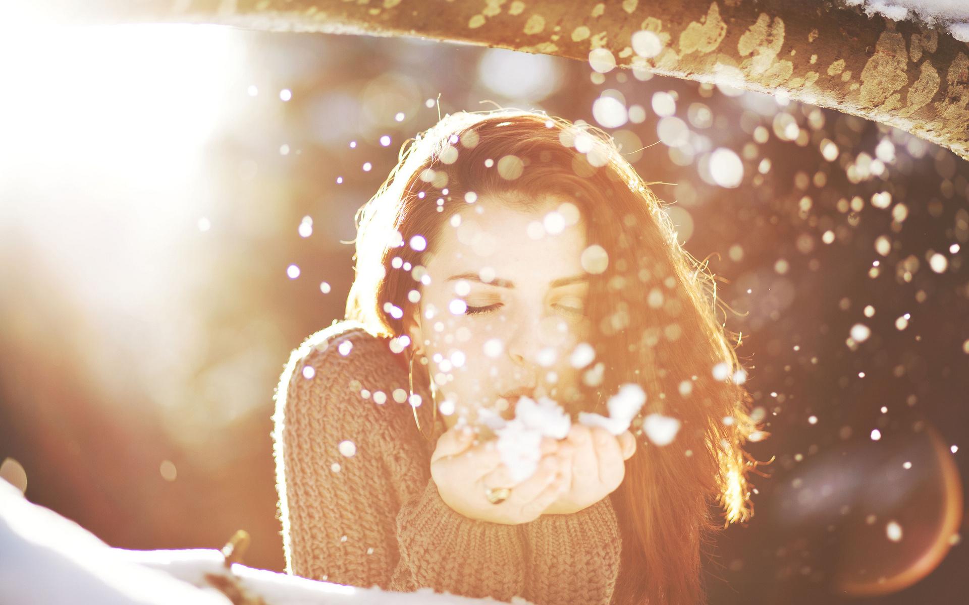 девушка брюнетка зима снег winter snow  № 2816658 без смс