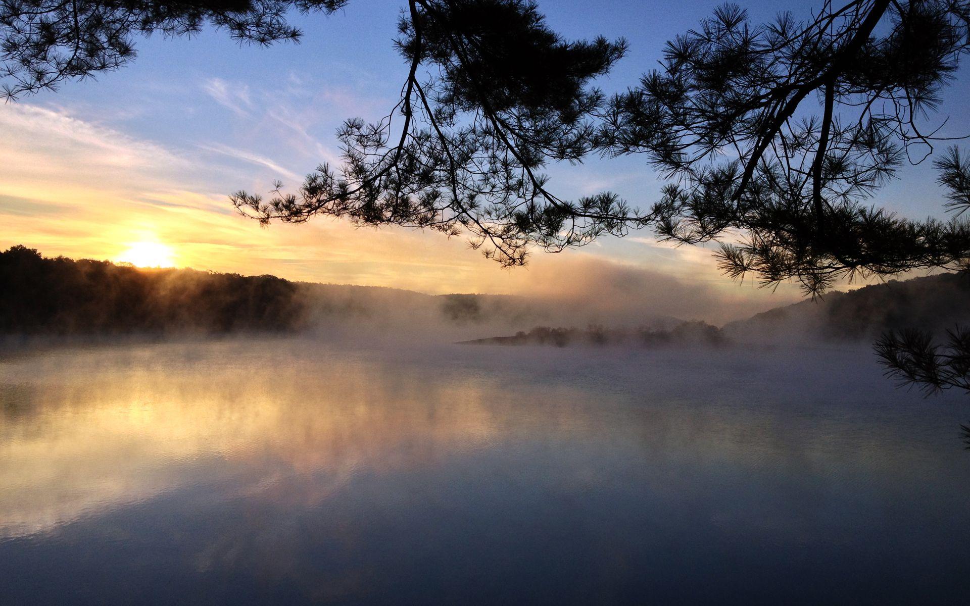 Рассвет утренний туман  № 3795941  скачать