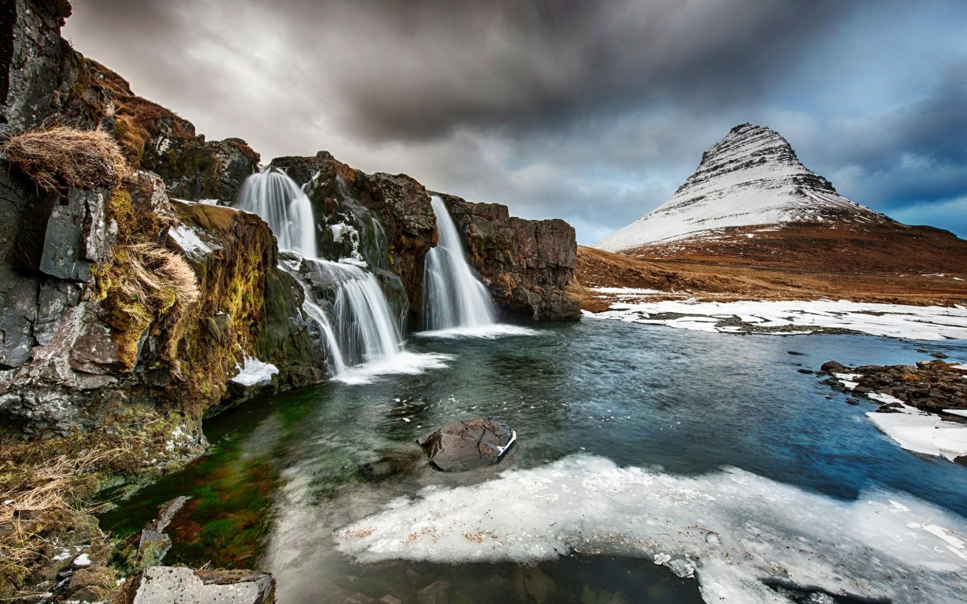 водопад камни скала скачать