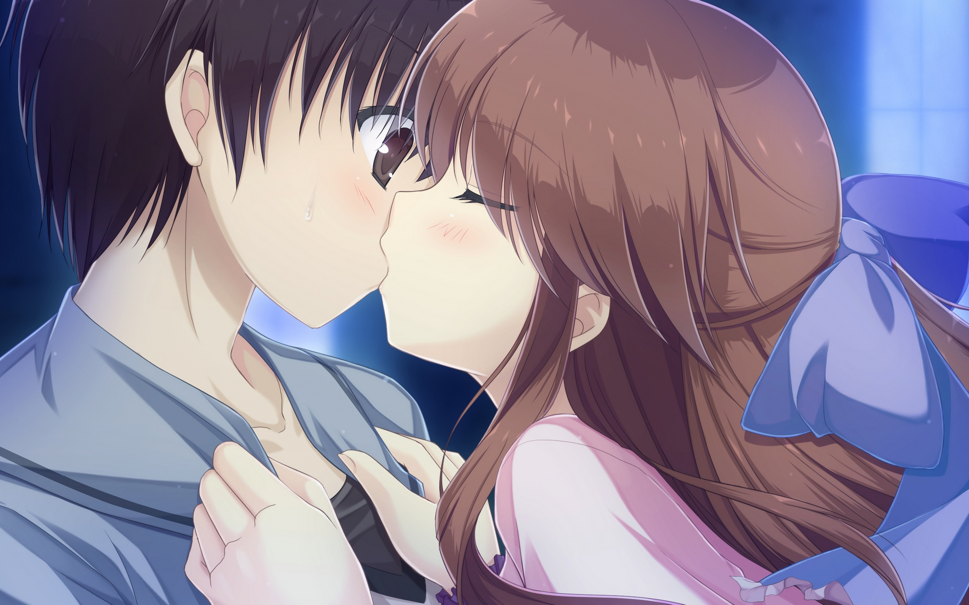 Картинки аниме поцелуи, игра