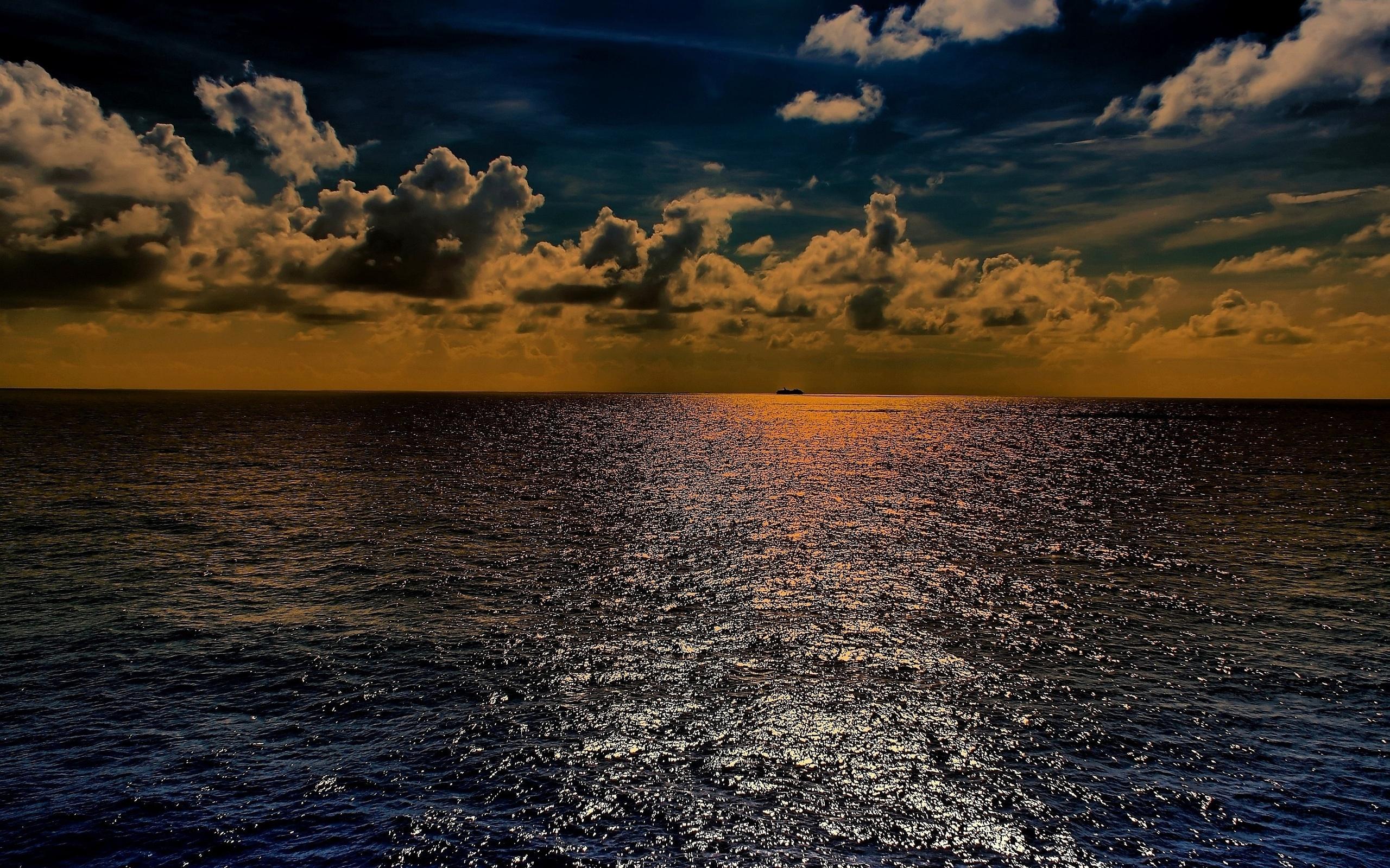 природа горизонт облака небо море nature horizon clouds the sky sea  № 2761293  скачать