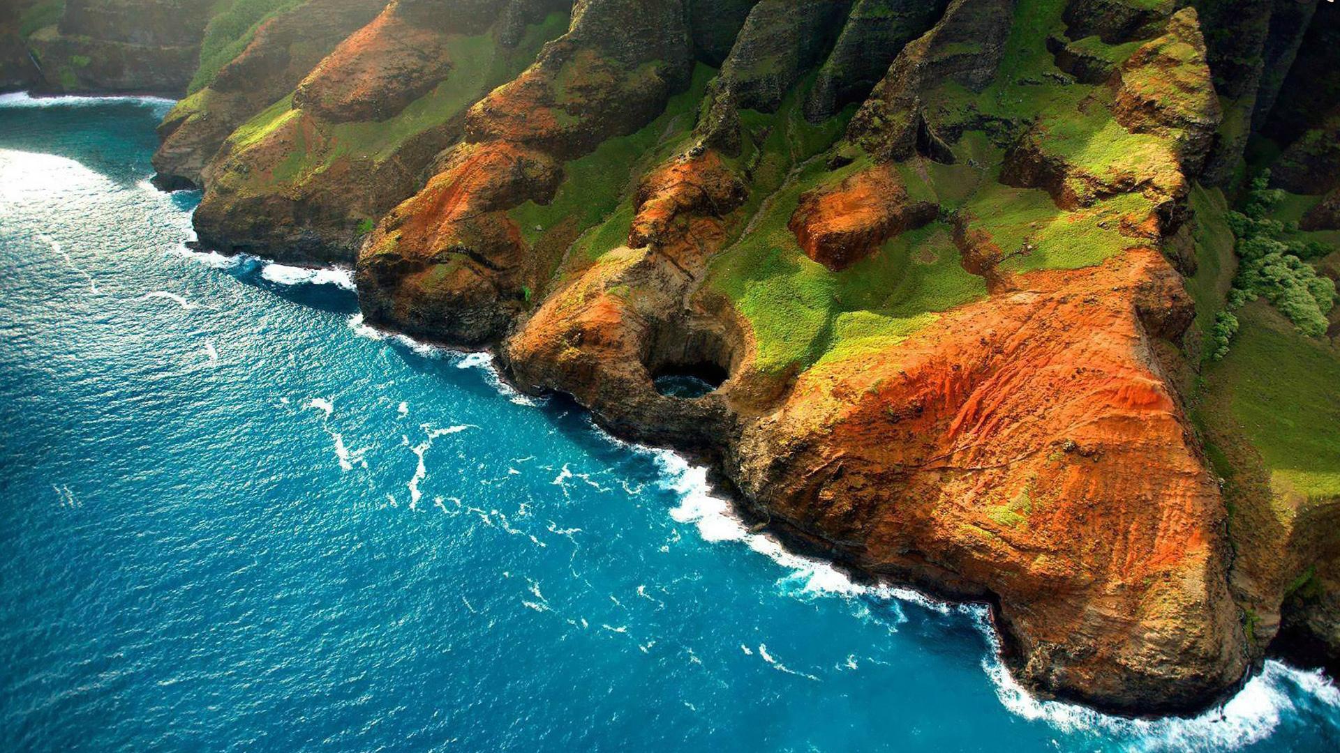 Горы у океана  № 1670795  скачать