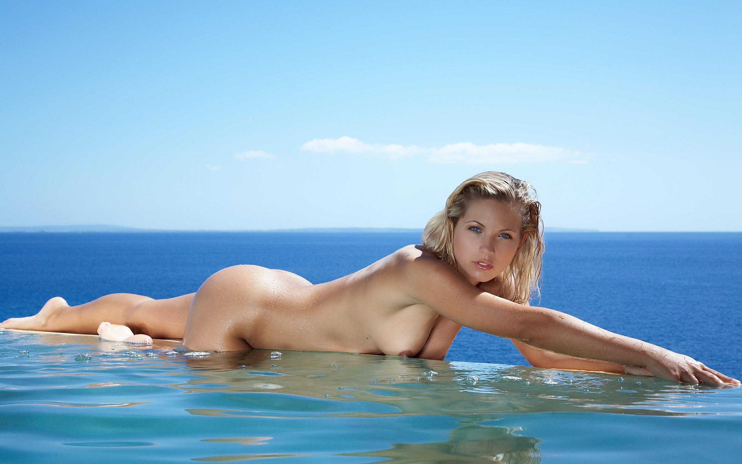 Sea Monster Eating Naked Woman Drew Dzwonkowski