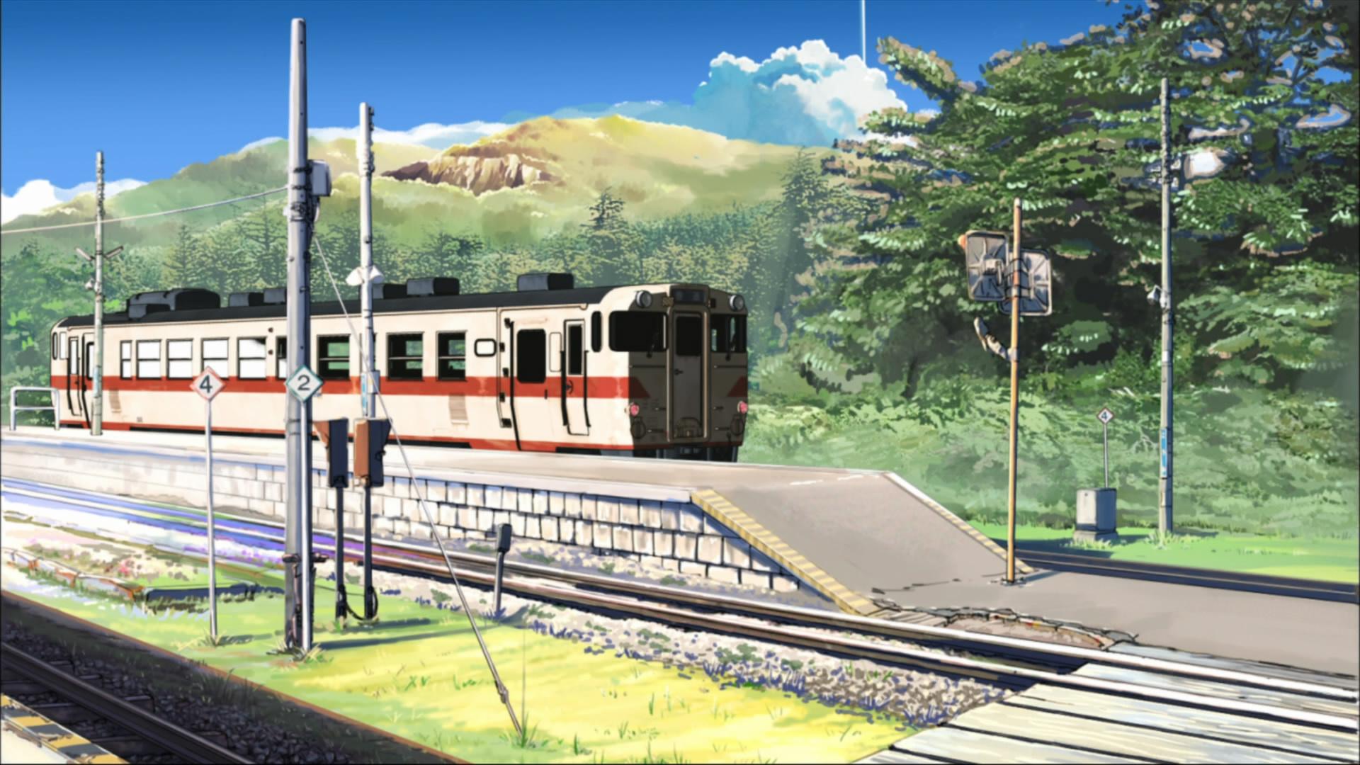 аниме девушка рельсы станция anime girl rails station без смс