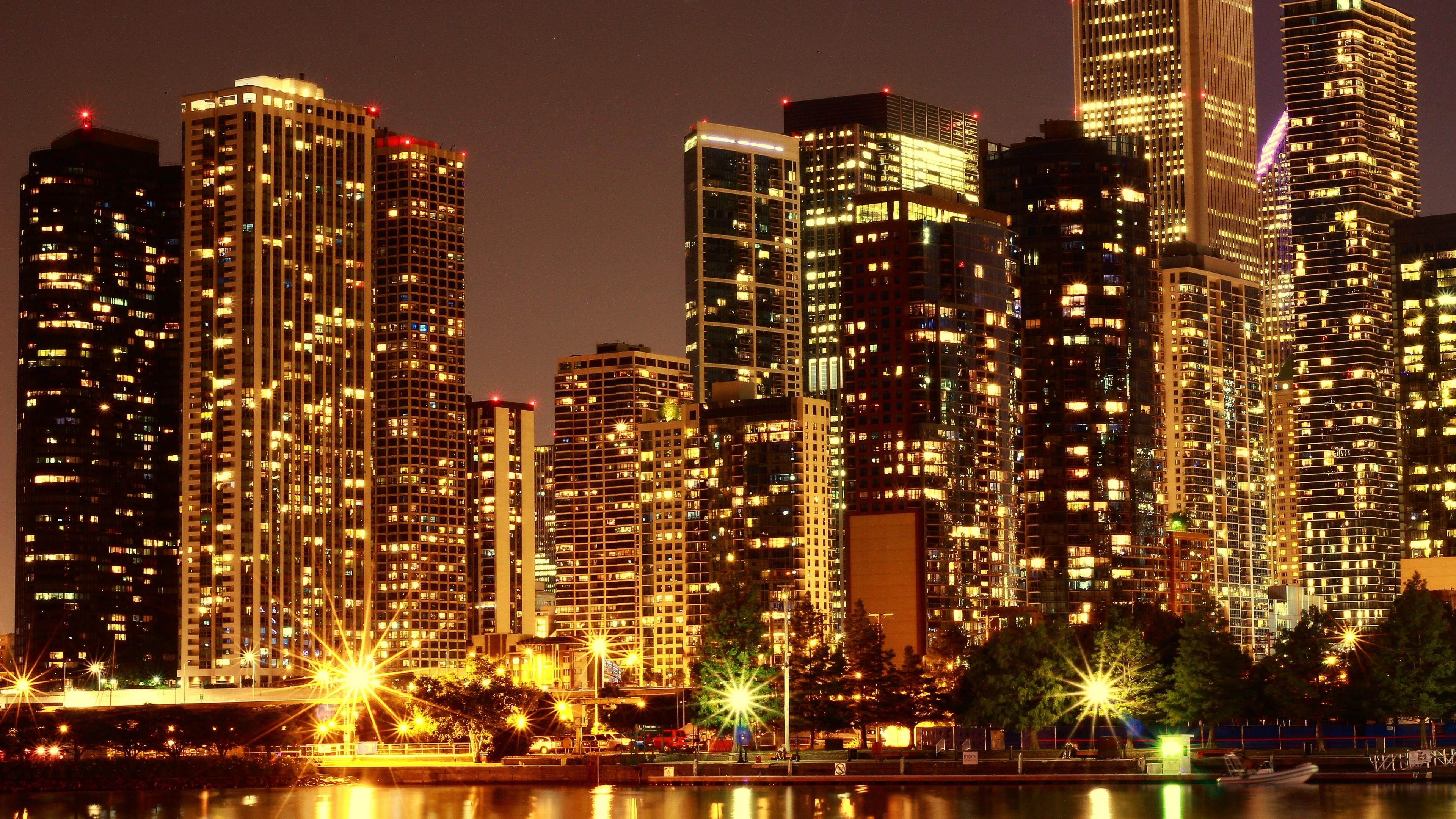 Картинки ночного небоскреба, ретро машины