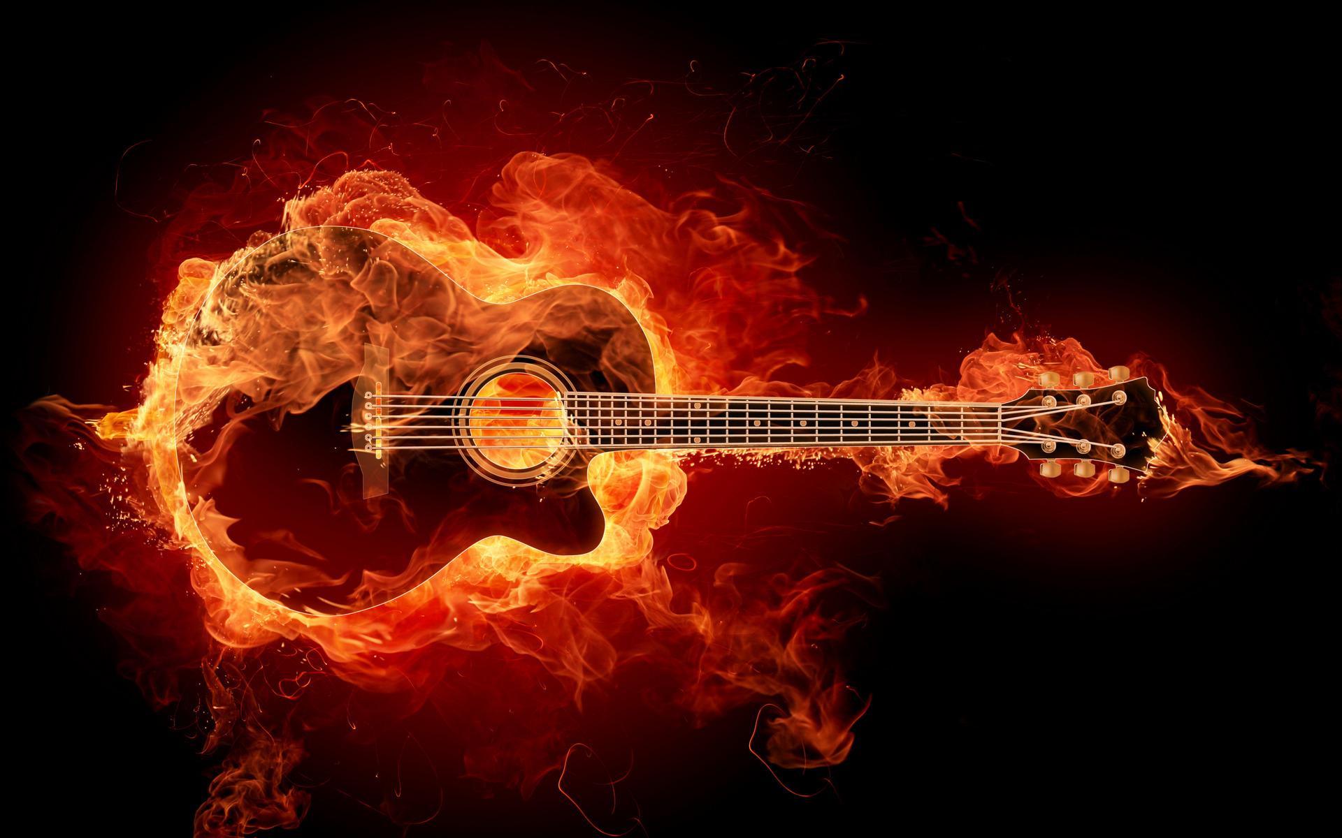 Гитара в огне загрузить