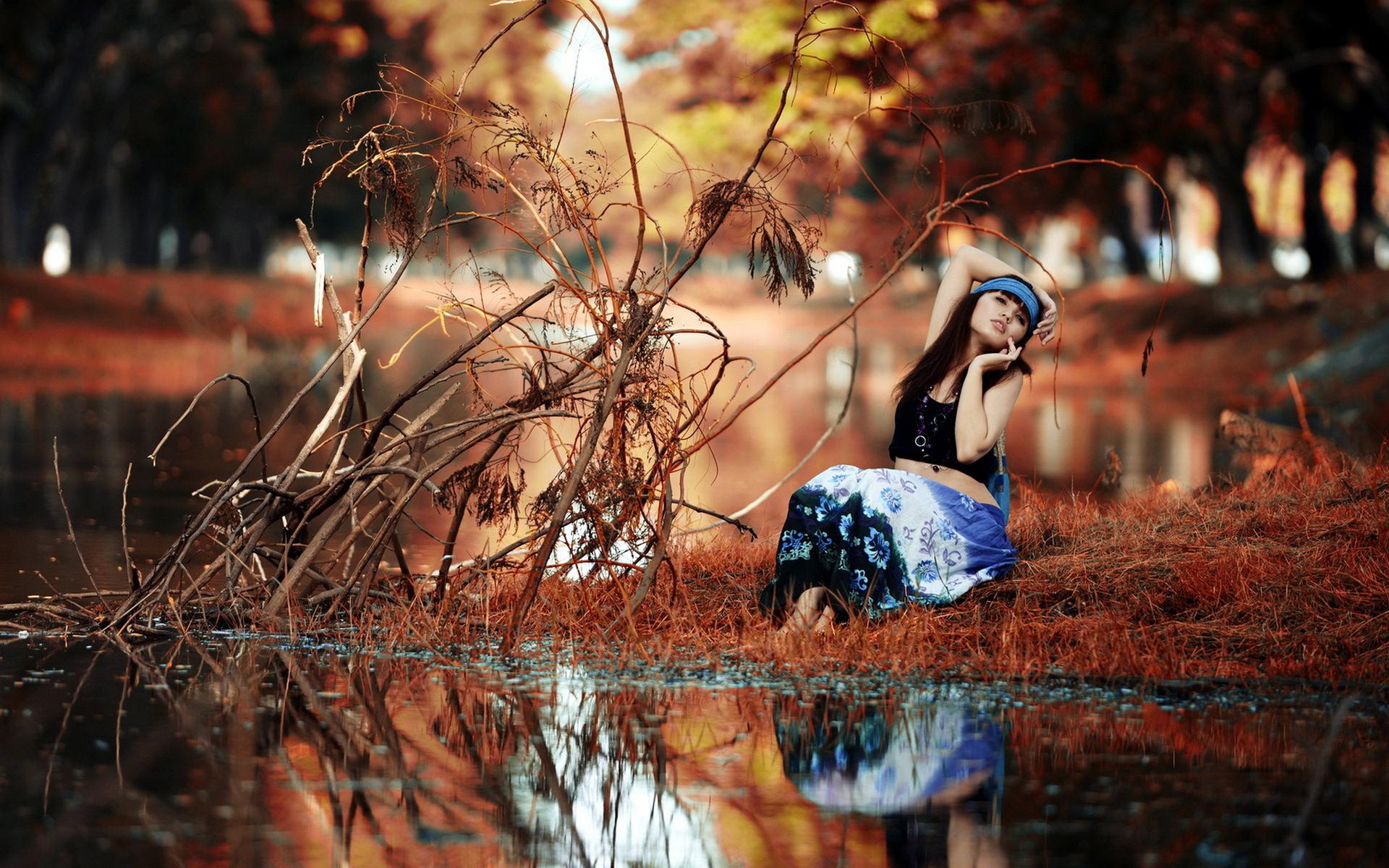 девушка брюнетка природа nature  № 1865509 без смс