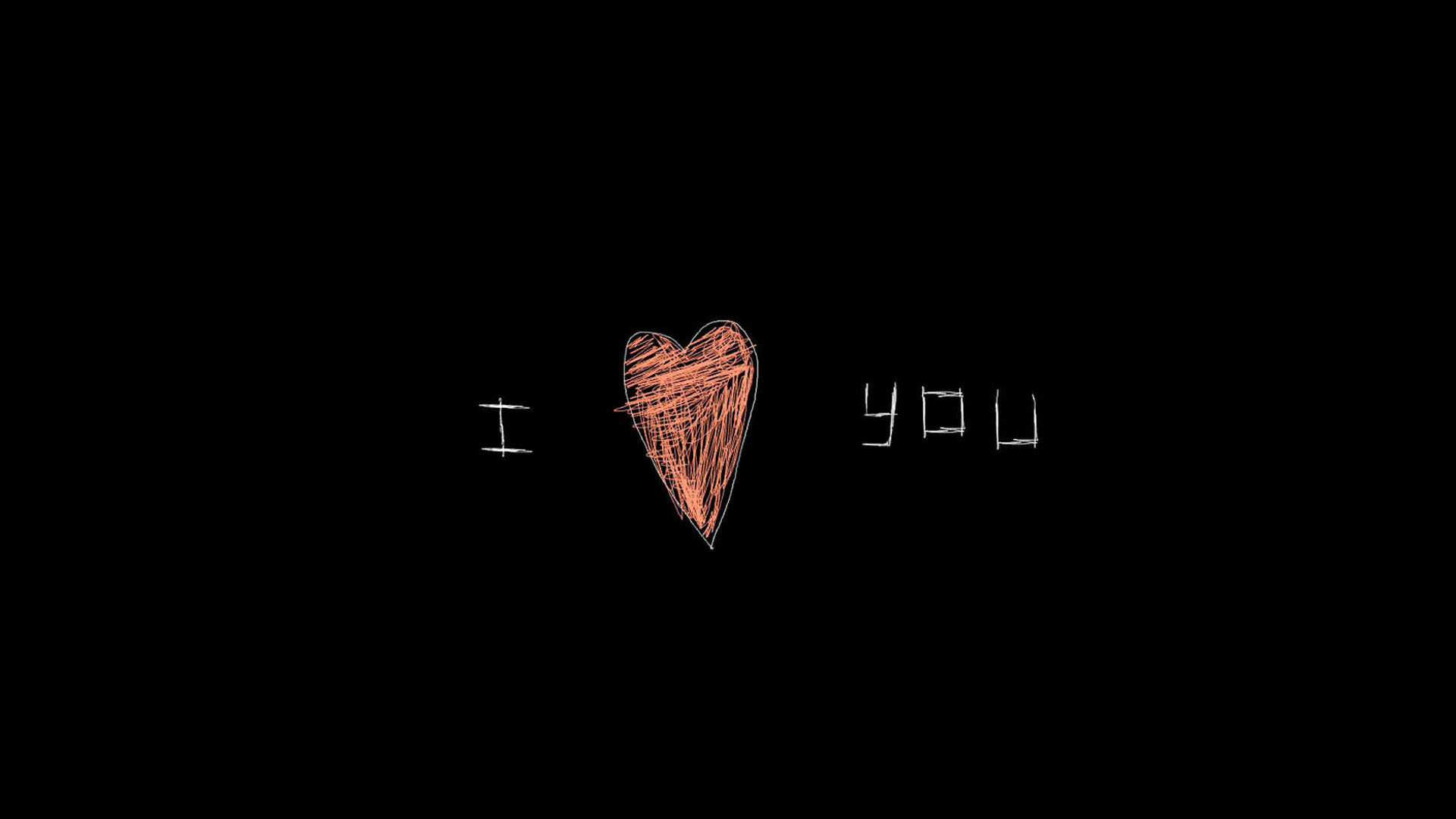 Надпись Love анонимно