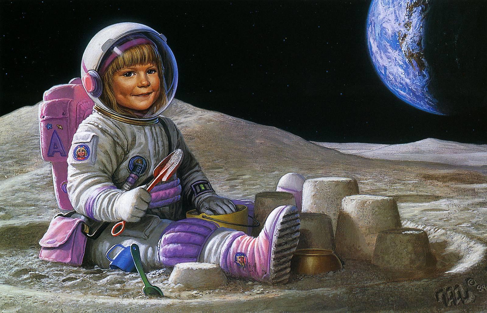 Открытка, с днем космонавтики картинки прикольные для девушки