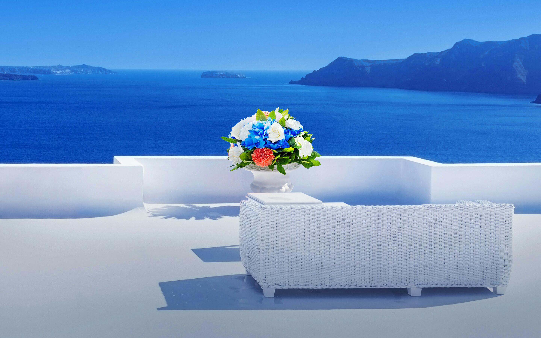 Картинки на рабочий стол море и цветы
