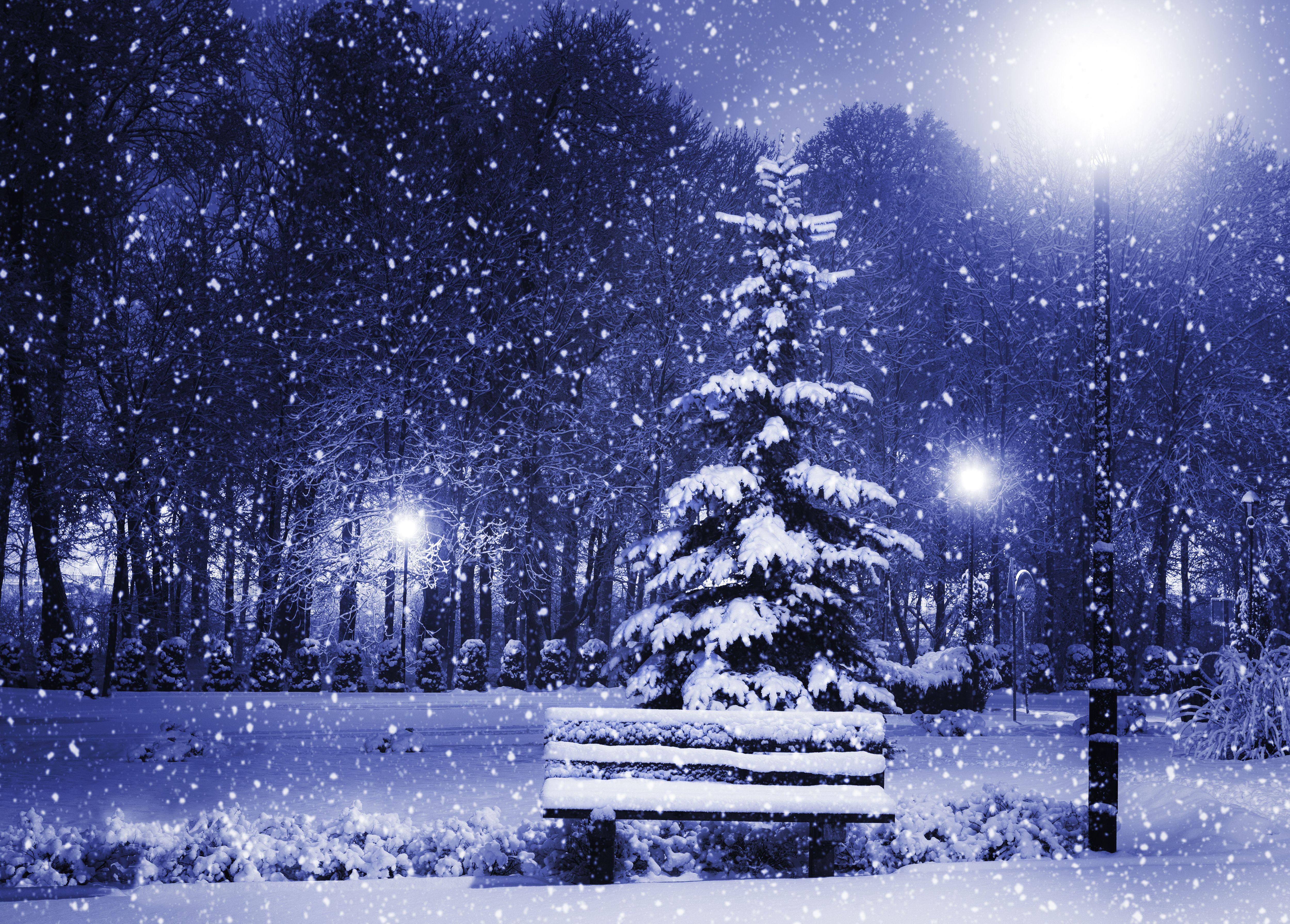 Картинки с анимацией с падающим снегом, поздравление