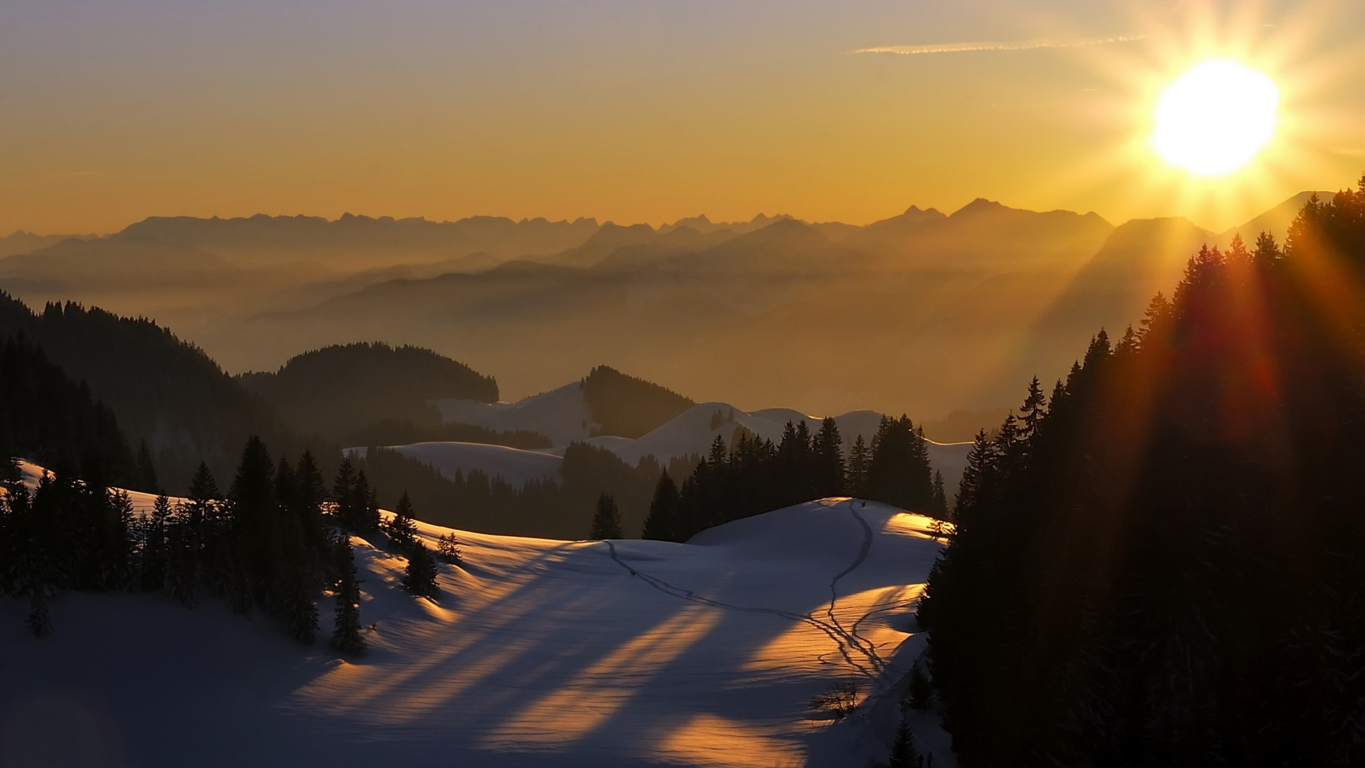 закат горы без регистрации