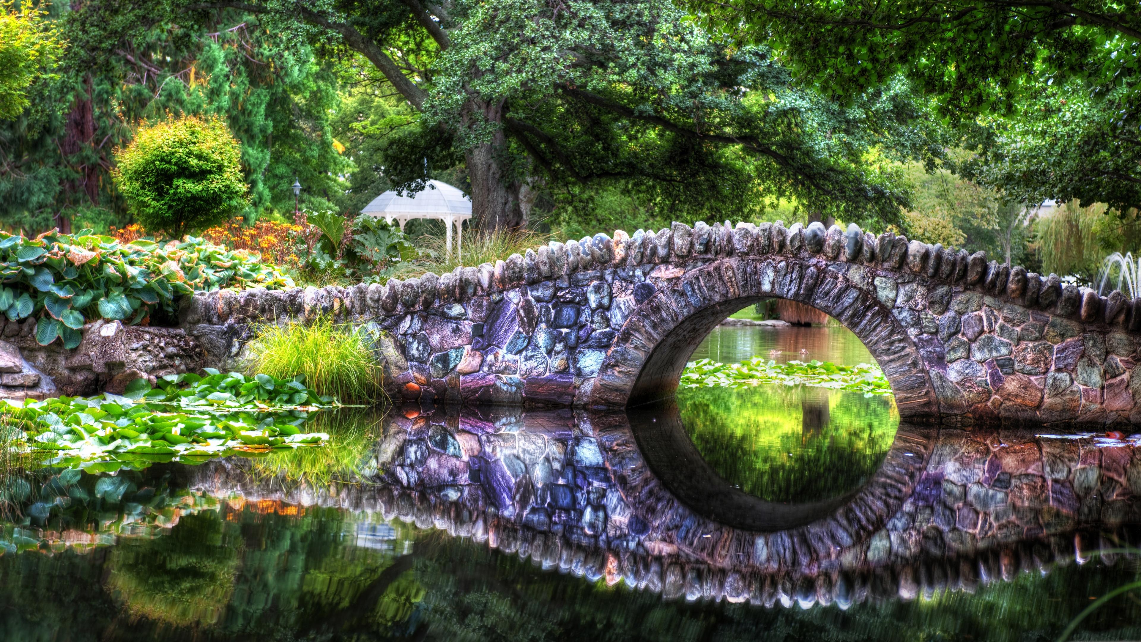 природа камни лес деревья мост река nature stones forest trees the bridge river подборки