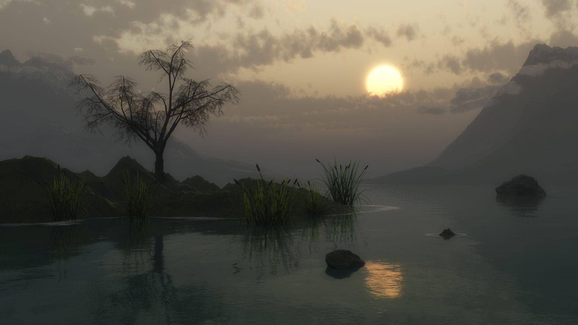 озеро сумерки the lake twilight бесплатно